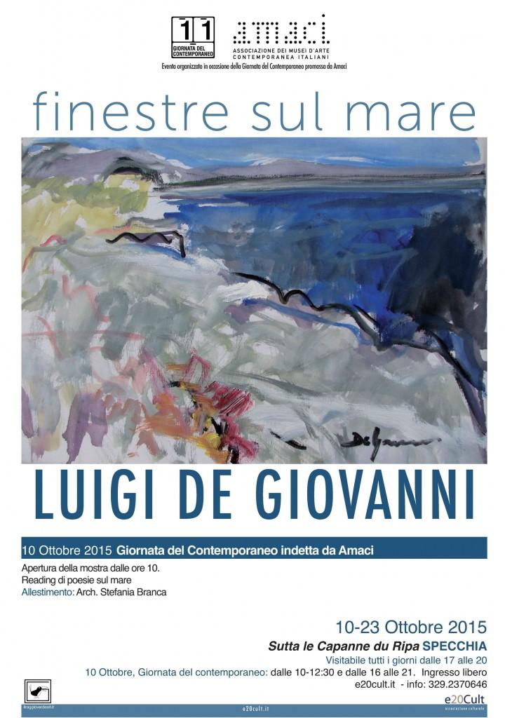 """""""Finestre sul mare""""  mostra personale di     Luigi De Giovann"""