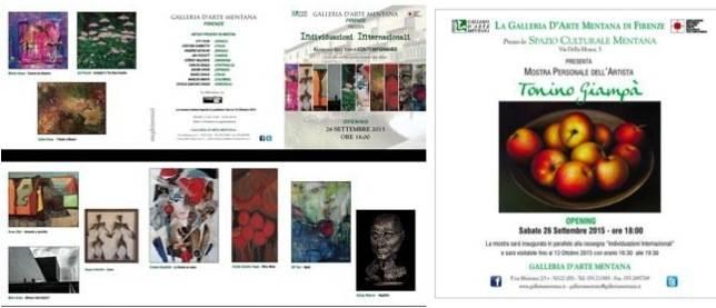 due eventi in parallelo: Individuazioni Internazionali e Mostra personale dell'artista Tonino Giampà